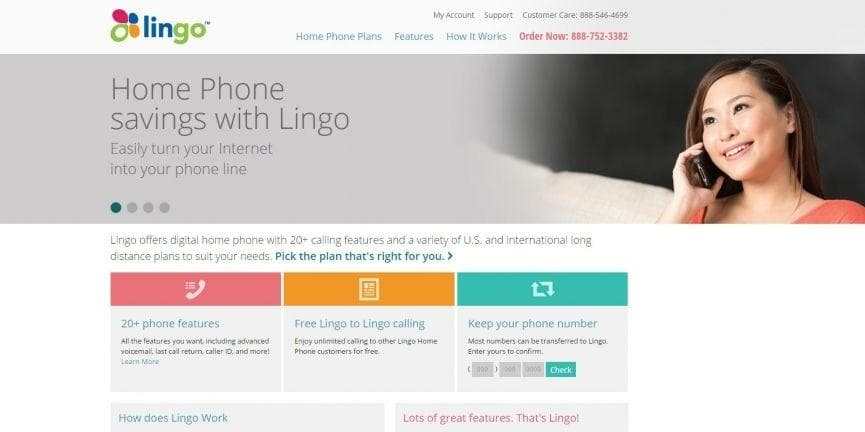 Lingo home phone service