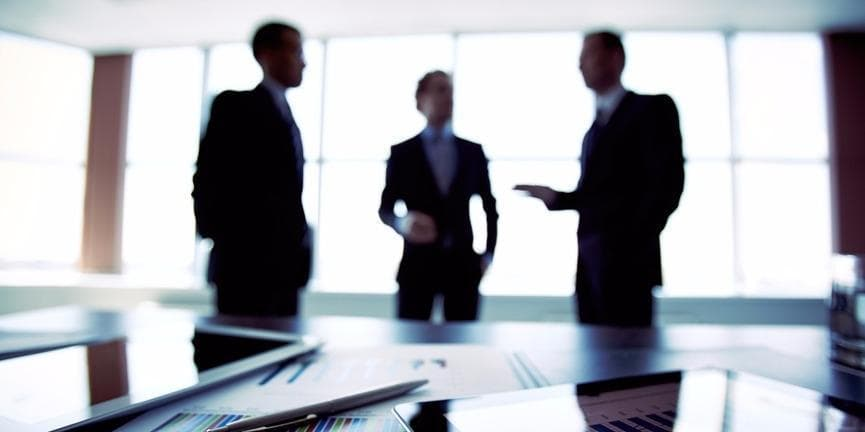 businessmen negotiating a deal