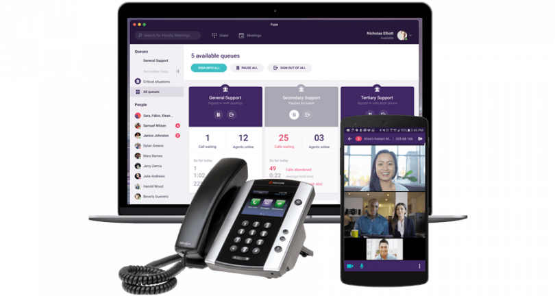 fuze contact center solution with incontact