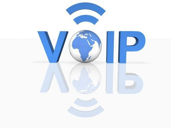 voip symbol including planet earth and radio waves