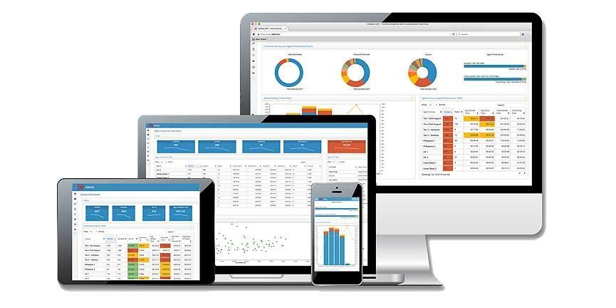 8x8 contact center user interface on multiple devices