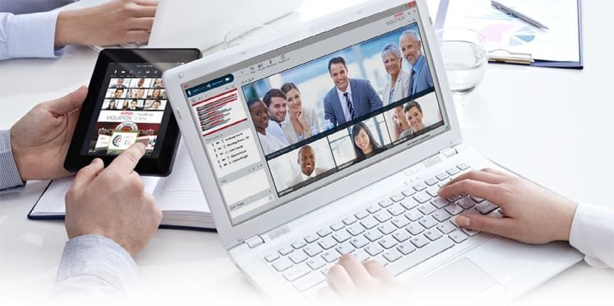 Avaya Equinox Meetings Online laptop tablet interfaces