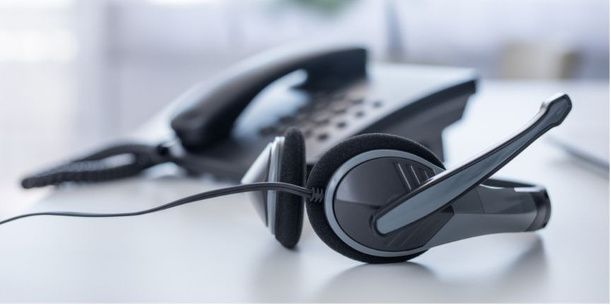 VoIP telephone and headset