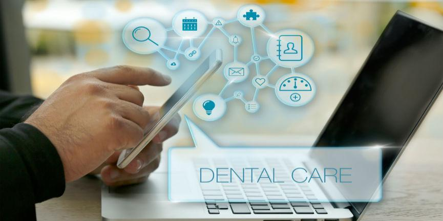 dental care management and unified communication concept