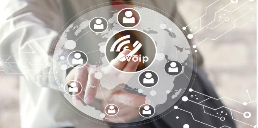business voip and unified communications concept