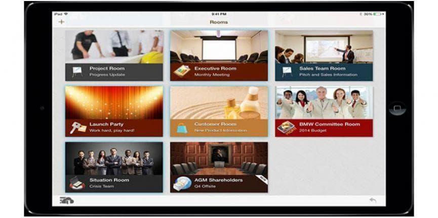 cafex collaboration platform on tablet