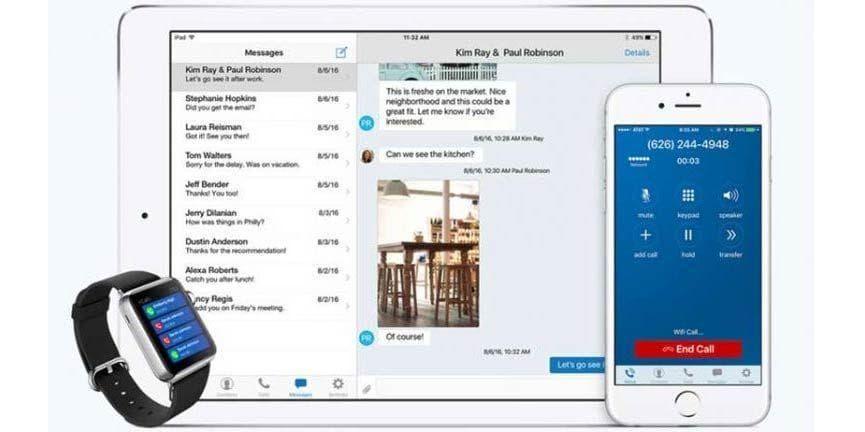 line2 ios app apple callkit