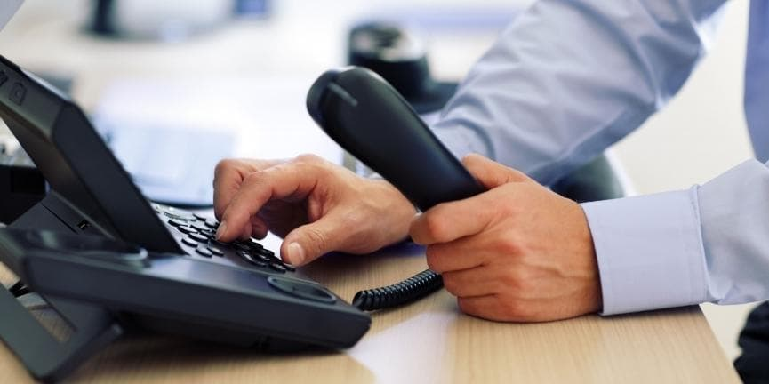 business VoIP phone call