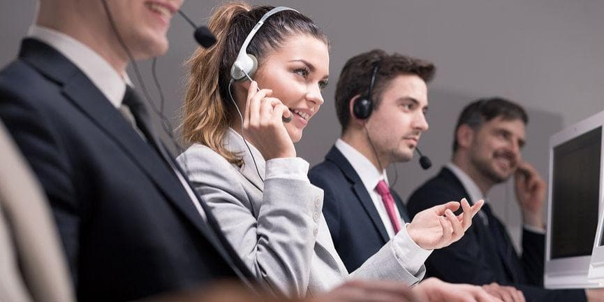 employees in a contact center