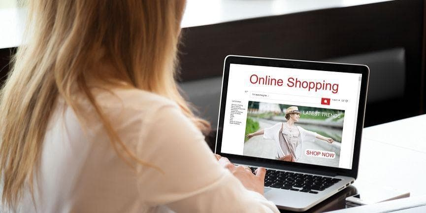 woman browsing ecommerce website