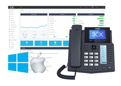 3CX PBX Express management console
