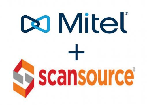 mitel and scansource company logos