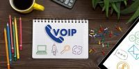 voice over internet protocol phone on notepad