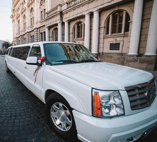 stretch limo parked