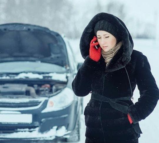 woman on phone with insurance company