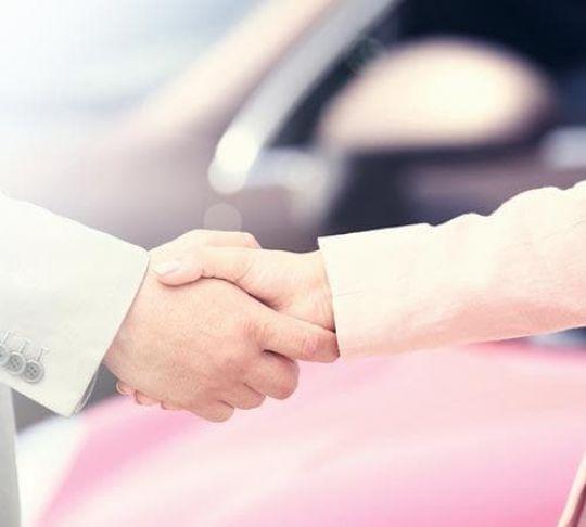 handshake after car sale