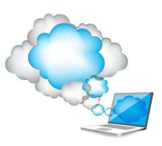 laptop computer with cloud access