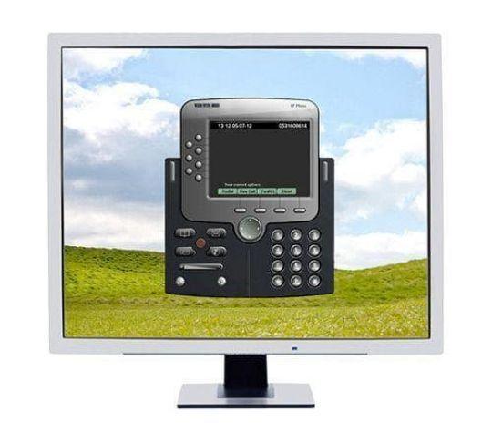 softphone on a desktop computer