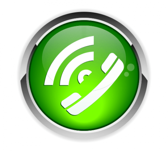 green phone icon with audio