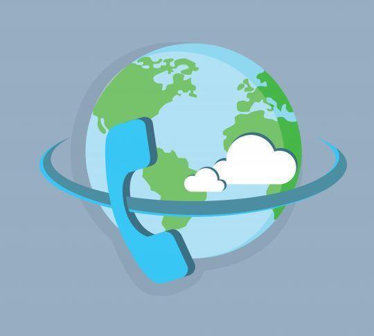 phone calling around the globe