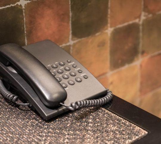 ip phone hotel lobby