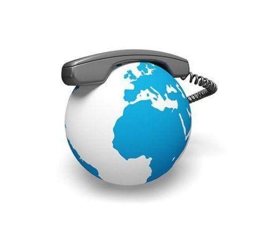phone on globe