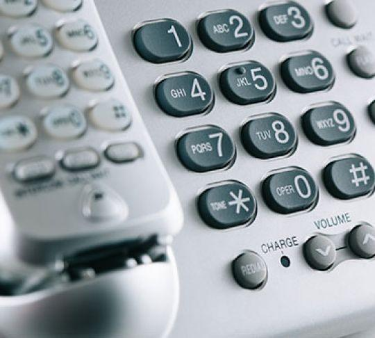 residential home phone keypad
