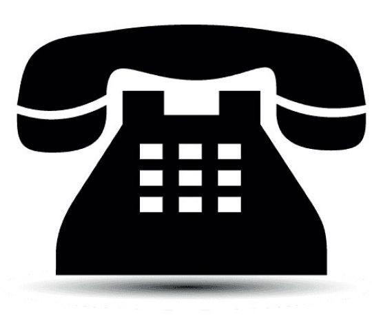 traditional residential phone flat icon