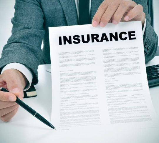insurance company showing insurance contract