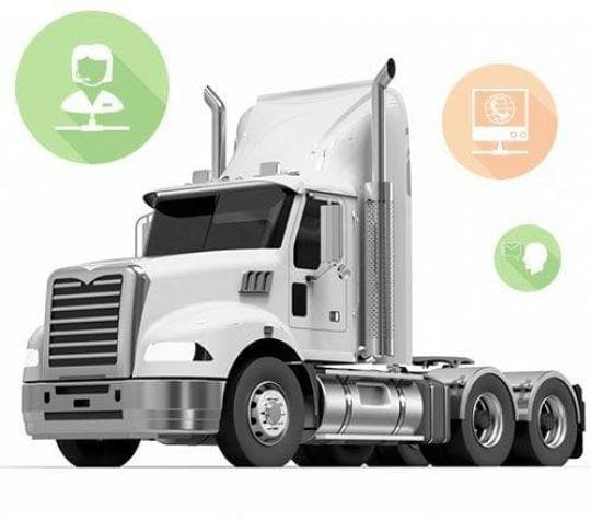 truck communicating via different methods